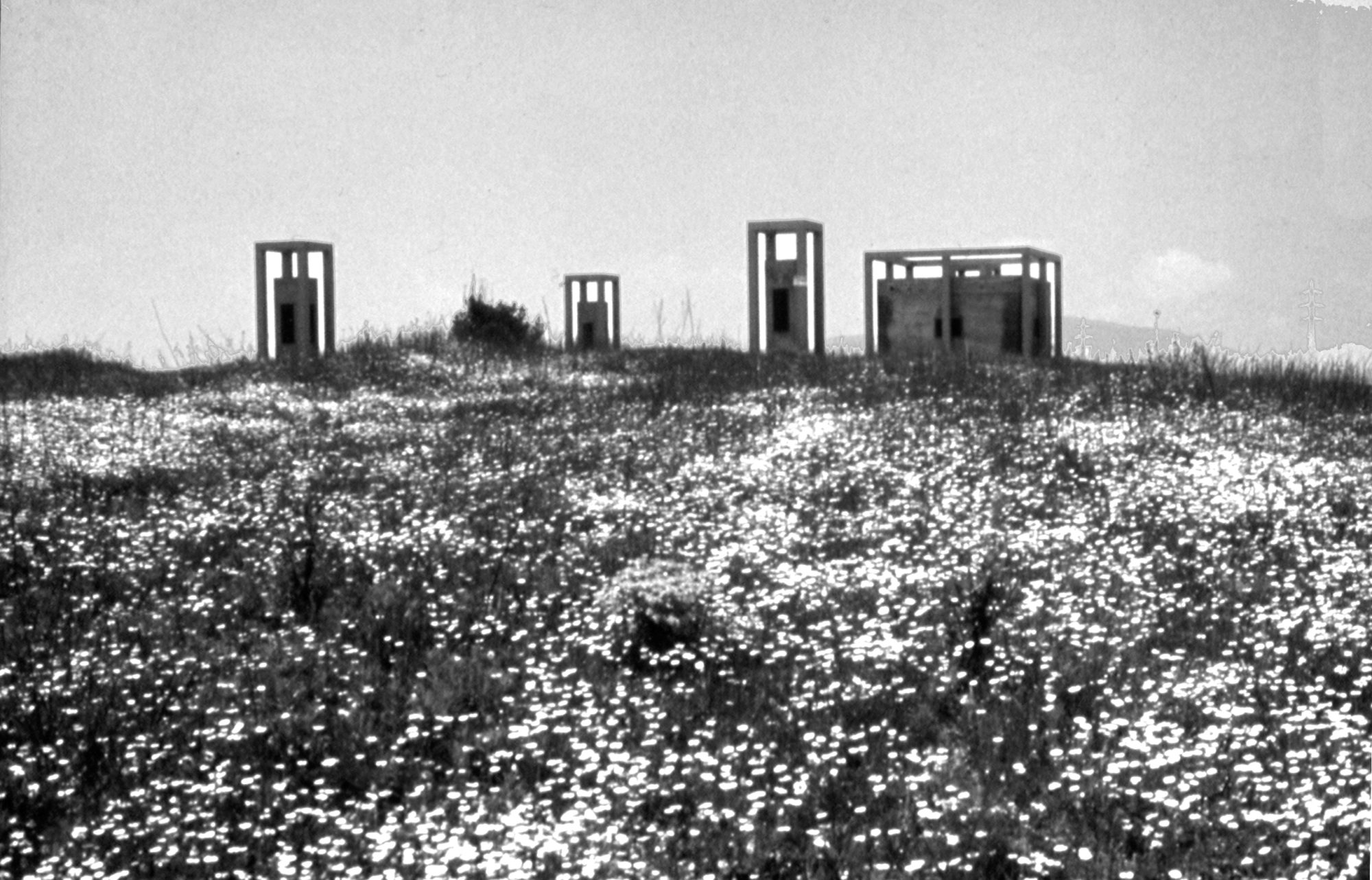 Access and ventilation towers of an underground water tank - Garcés - de Seta - Bonet