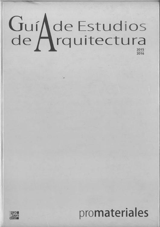 Guía de Estudios de Arquitectura - Garcés - de Seta - Bonet